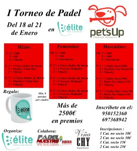 I Torneo Pet'sUp en Elite Padel Club Indoor