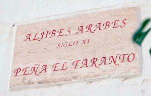 placa de piedra Aljibes Árabes Almería