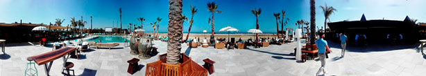 Terrazas de Almería con vistas al mar