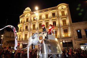 Carroza en el centro de Almería.
