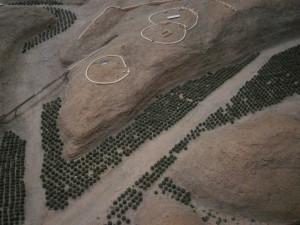 Maqueta del emplazamiento de Los Millares, entre el Andarax y rambla de Huéchar