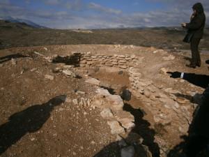 Base de uno de tholos funerarios