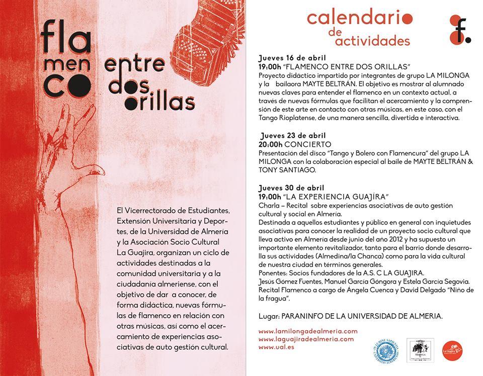 Calendario Ual.Flamenco Entre Dos Orillas En La Ual Weeky