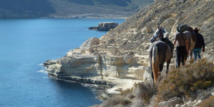 Ruta a caballo en Los Escullos