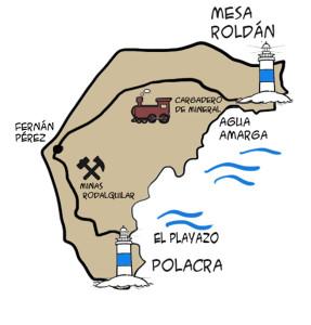 mapa ruta faros