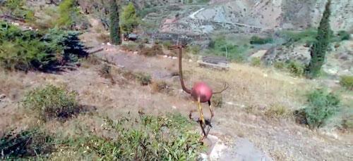Almócita montaña escultura animal
