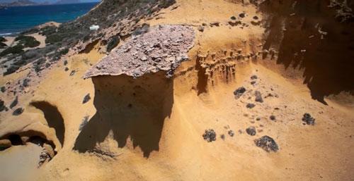 roca saliente playa Cuevas de Almanzora