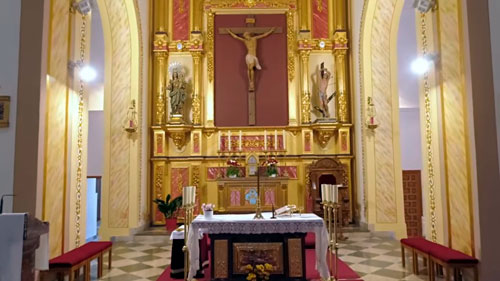 altar Iglesia de Nª Sª del Rosario Lubrín
