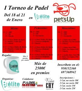 I Torneo Pet'sUp en Elite Padel Club Indoor