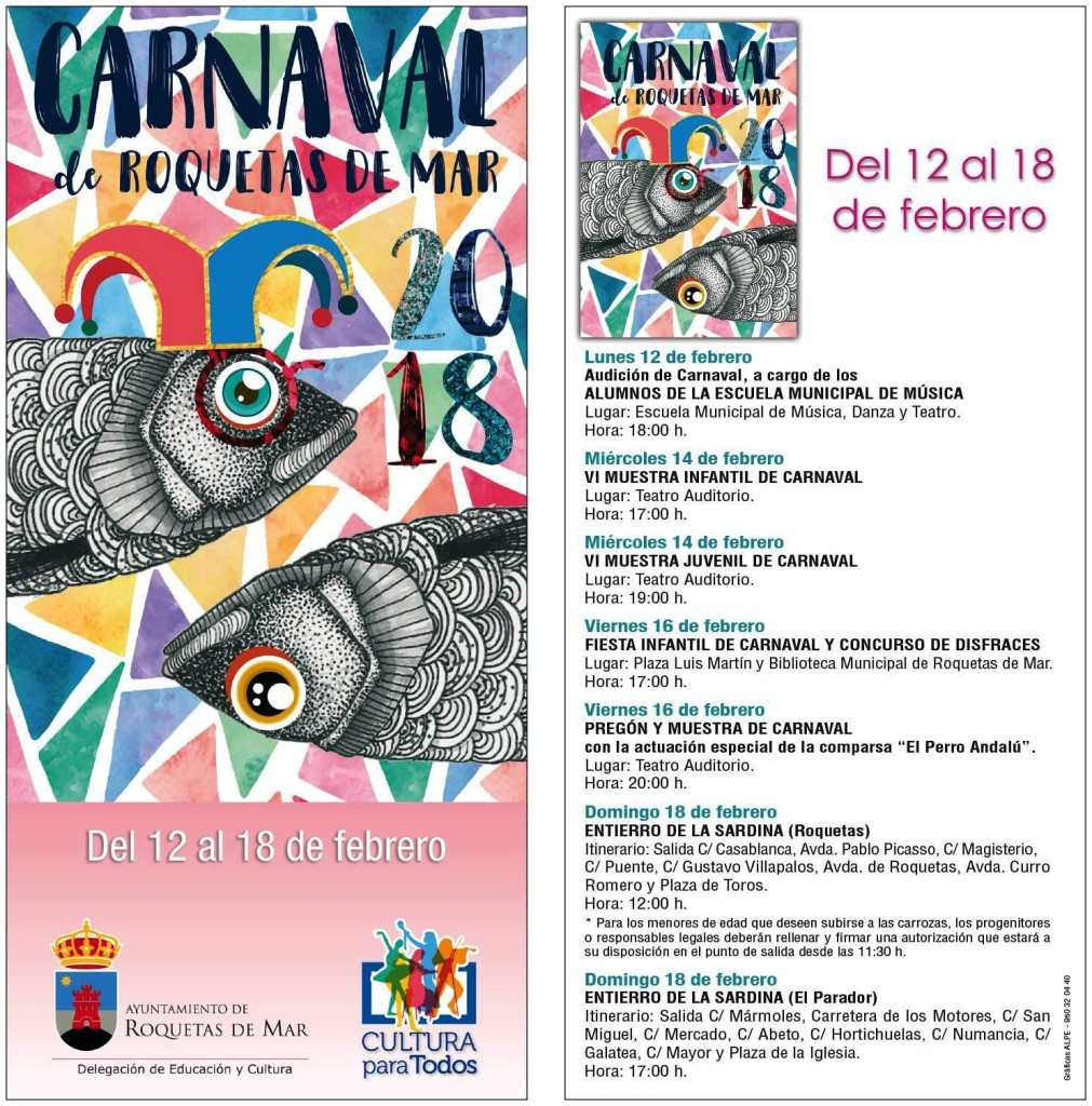 carnaval ROQUETAS DE MAR2018
