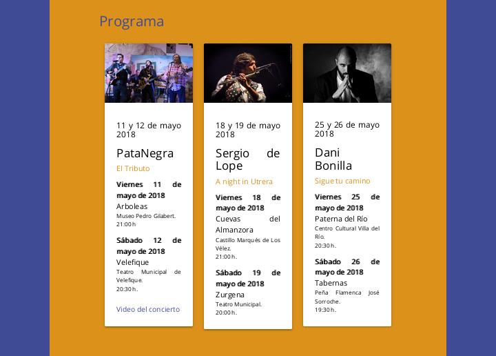 """Flamenco 2018 """"En la Frontera"""""""