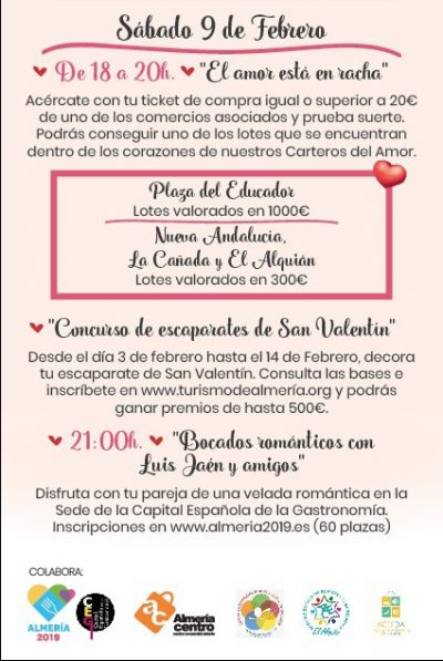 San Valentín en Almería 2019