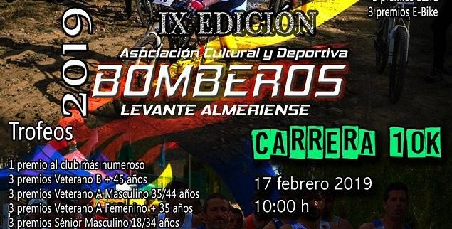 IX EDICIÓN 10K RUTA - A.C.D. BOMBEROS LEVANTE ALMERIENSE 2019