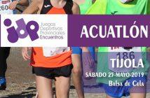 Encuentro educativo de promoción de ACUATLÓN, Tíjola