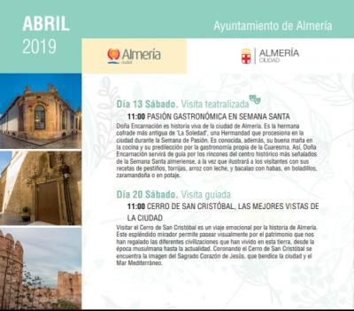 Visitas guiadas por Almería - Primavera 2019