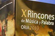 X Rincones de Música y Palabra. Oria 2019