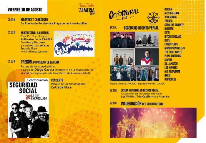 Feria y Fiestas de Almería 2019
