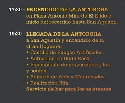 Hogueras de San Antón 2020 El Ejido