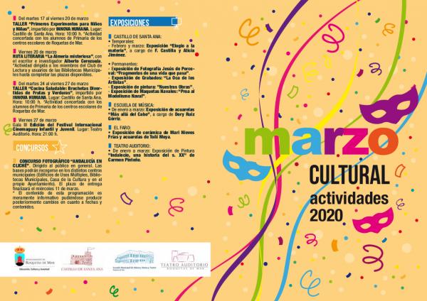 Actividades Culturales Marzo 2020 Roquetas de Mar