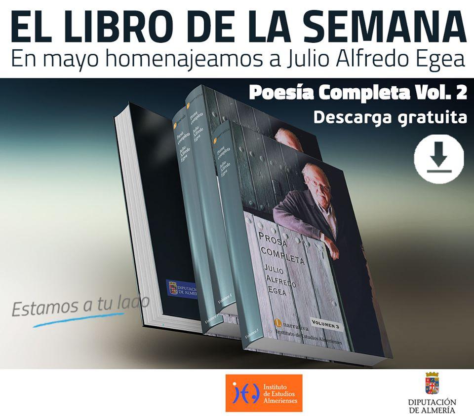libro Poesía completa Julio Alfredo Egea.
