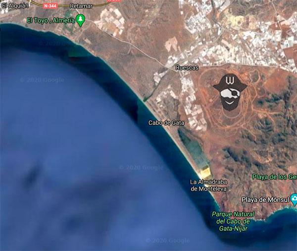 mapa Paseo Marítimo Cabo Gata Almería