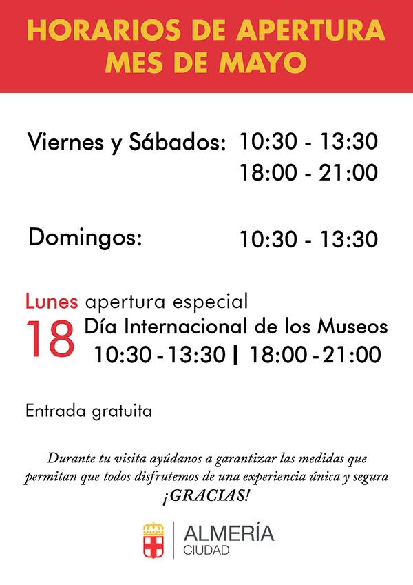horarios museos almeria covid-19