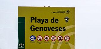 Restricciones de entrada en las playas de Cabo de Gata