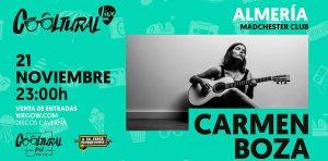 Concierto de Carmen Boza en Almería