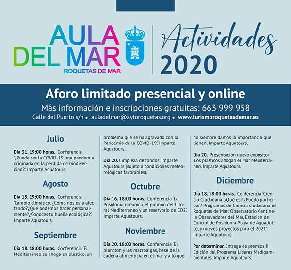 Ciclo de conferencias 2020 - Aula del Mar - Roquetas de Mar