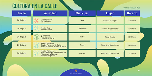 Programa Cultura en la calle - Diputación de Almería