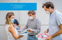 Entrega de material preventivo y señalética vuelta al cole - Roquetas de Mar