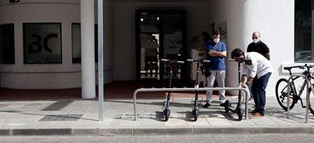 Presentación Aparcabicis - Consorcio de Transporte Metropolitano de Almería
