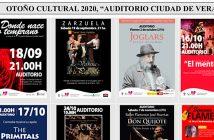 """OTOÑO CULTURAL 2020"""" EN EL TEATRO AUDITORIO CIUDAD DE VERA"""