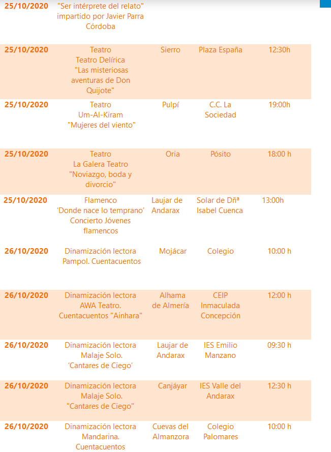 Agenda Cultural - Diputación de Almería