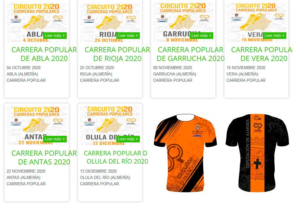 Circuito Provincial de Carreras Populares 2020 - Almería