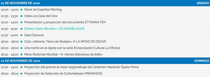 Programa del Festival Internacional de Cine de Almería