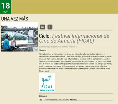 Filmoteca de Almería FICAL 2020