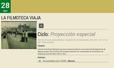 Filmoteca de Almería - Noviembre 2020