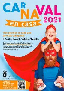 """Concurso de disfraces """"Carnaval en Casa 2021"""" Roquetas de Mar"""