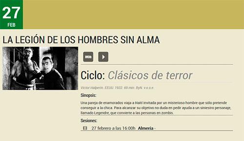 Almería Filmoteca de Andalucía La legión de los hombre sin alma