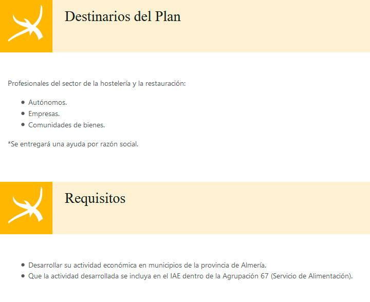 Plan Anfitriones 'Diego García' - Diputación de Almería