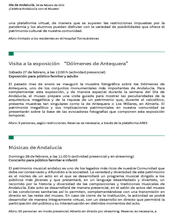Actividades por el Día de Andalucía 2021Almería