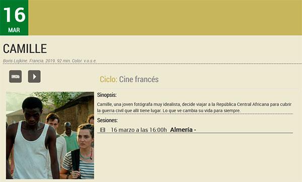 Camille - Filmoteca de Andalucía