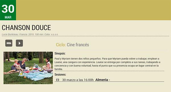 Chanson douce - Filmoteca de Andalucía