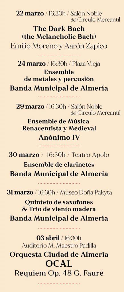 Ciclo de Música Sacra de Almería 2021