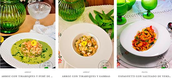 Cocina con Ana, platos de tirabeques