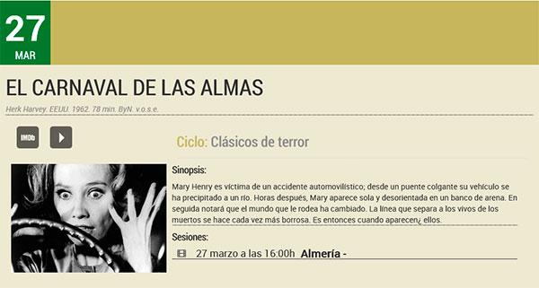 El carnaval de las almas- Filmoteca de Andalucía