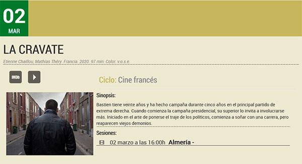 La Cravate - Filmoteca de Andalucía