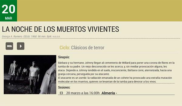 La noche de los muertos vivientes - Filmoteca de Andalucía