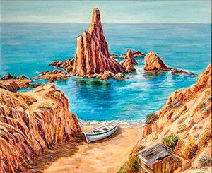 MARÍA DEL MAR MARTÍNEZ exposición de pintura paisajes de Almería